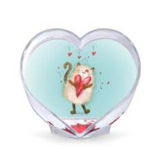 Сувенир-сердце Котик