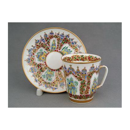 Чашка с блюдцем «Дворцы Шехерезады»