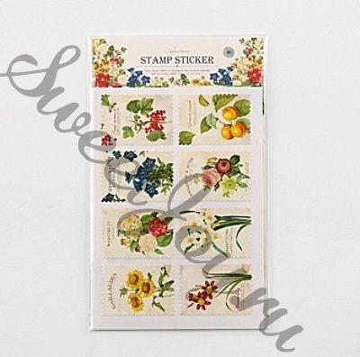 Набор наклеек Ancien Stamp Sticker Botanical