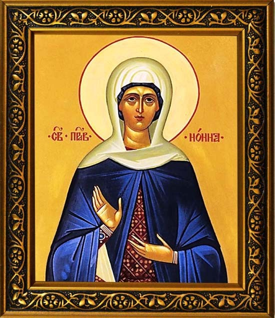 Икона на холсте Нонна Святая Праведная
