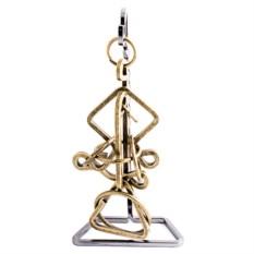 Головоломка Волшебные кольца из металла с латунью
