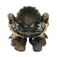 Скульптура Две русалки с ракушкой