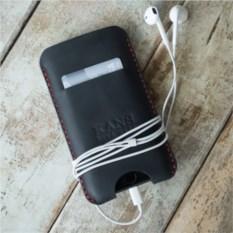 Черный чехол для iPhone 6/7 (натуральная кожа)