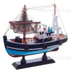 Модель корабля из дерева, длина 20см
