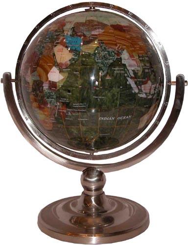 Зеленый глобус 220мм (змеевик)