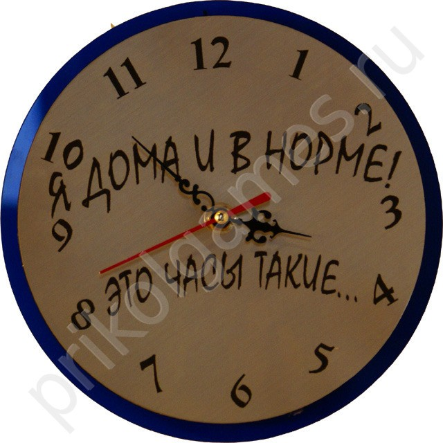 Прикольные часы.Я дома и в норме!