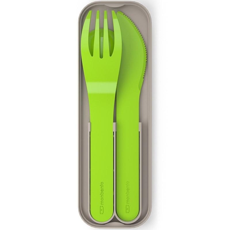 Набор приборов для ланч-бокса Pocket color (цвет — зелёный)