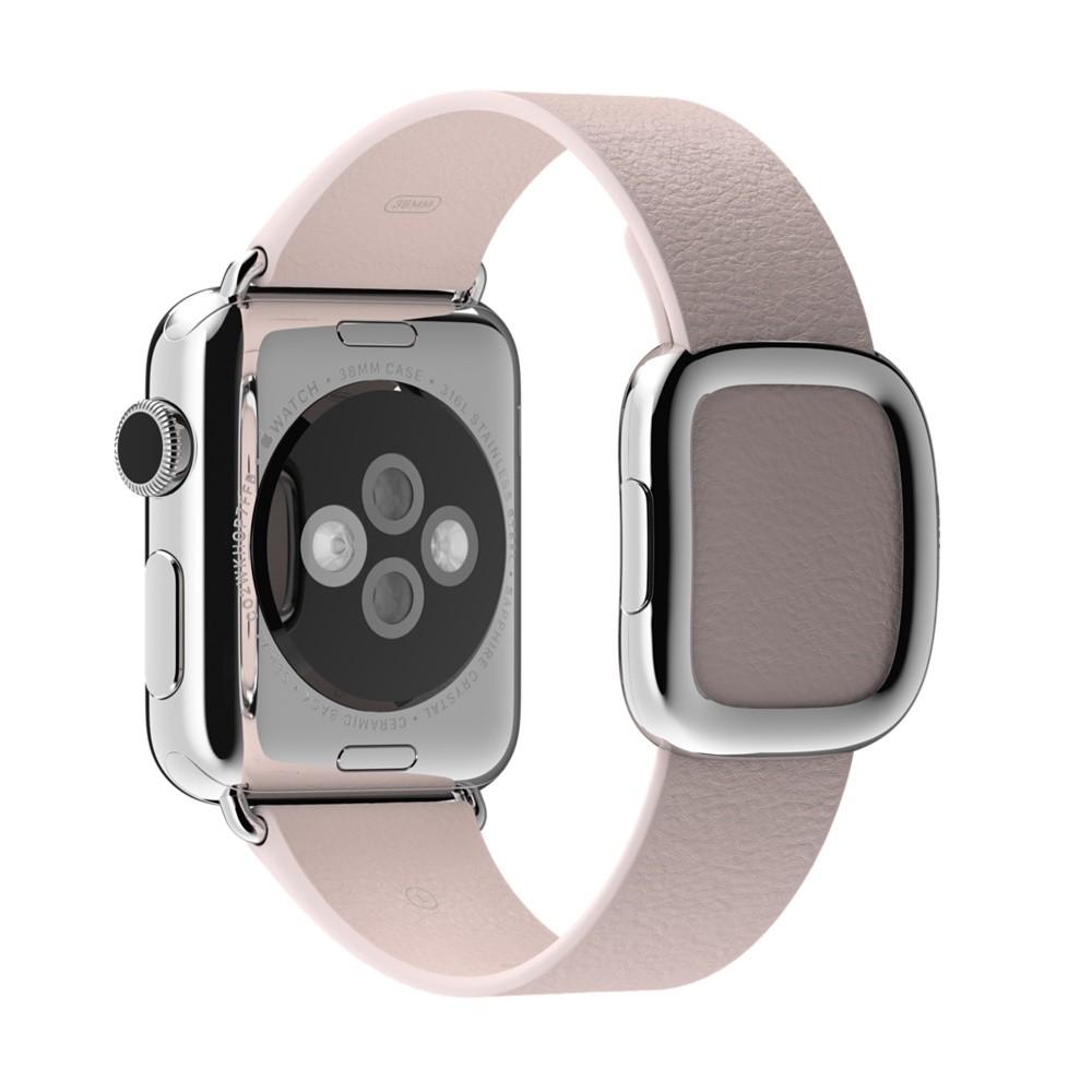 Кожаный ремешок Soft Pink Modern Buckle для Apple Watch