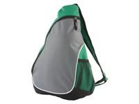 Рюкзак на одно плечо с 1 отделением и 2 сетчатыми карманами, зеленый