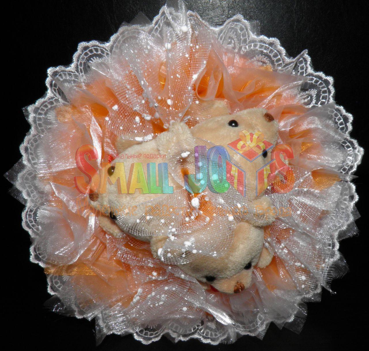 Букет из мягких игрушек Трио (оранжевый)