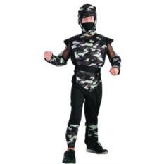 Детский карнавальный костюм Камуфляж бойца с мускулатурой
