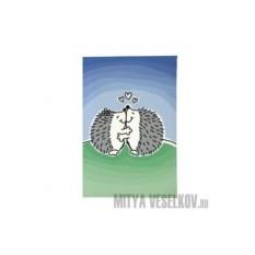 Обложка для паспорта Влюбленные ёжики