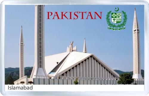 Магнит на холодильник: Пакистан. Мечеть Фейсал
