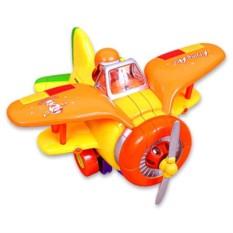 Пластмассовая озвученная детская игрушка-каталка Самолёт
