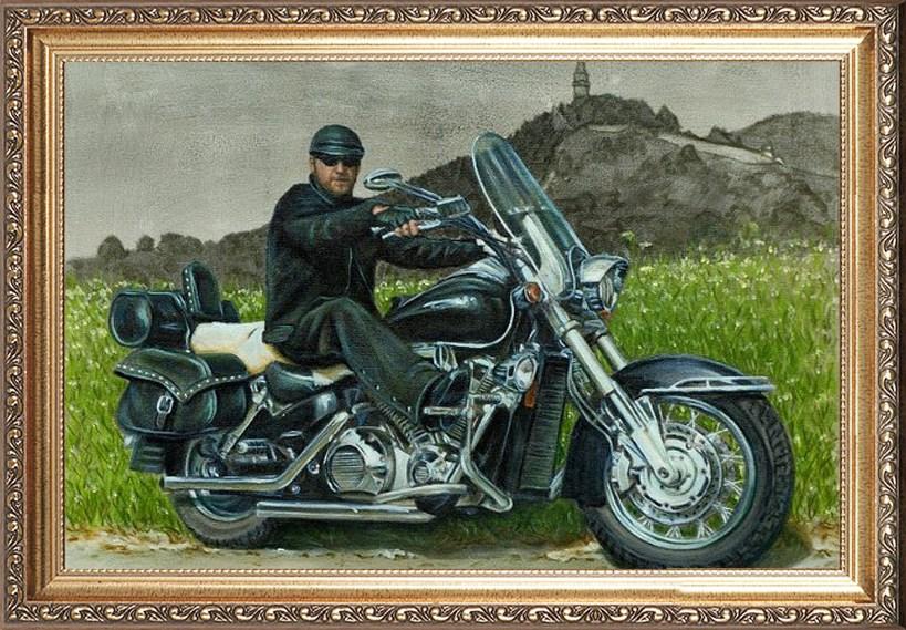 Шикарный портрет для байкера