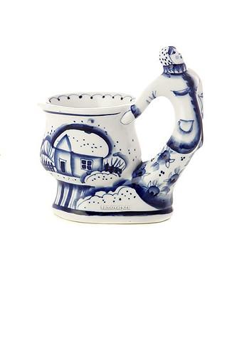 Бокал с художественной росписью Мороз (Гжель)