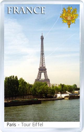 Сувенирный магнит: Франция. Вид на Эйфелеву башню