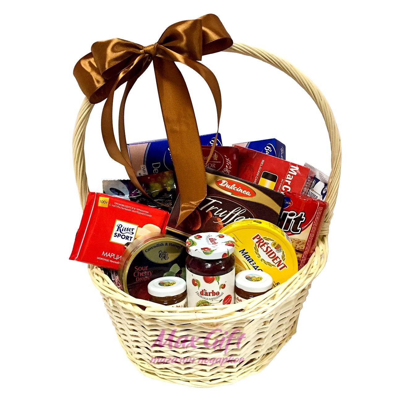 Поздравление к подарку продуктовая корзина