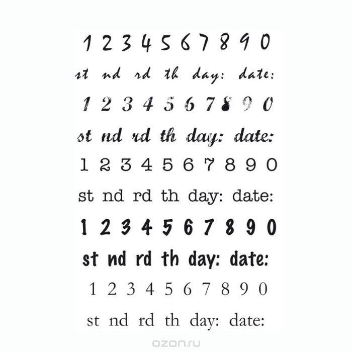 Силиконовый штамп Kaisercraft Даты (15,5х10,5 см)