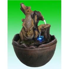 Декоративный фонтан Семейство кенгуру