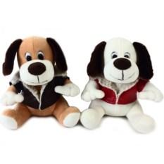 Мягкая игрушка Собака, высота 19 см