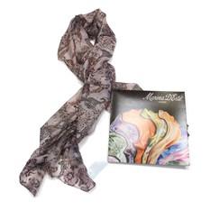 Шелковый шарф розово-сероватого оттенка Marina D'este