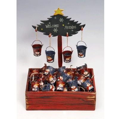 Ведерко металлическое рождественское