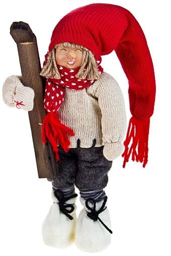 Декоративная кукла Малыш с лыжами