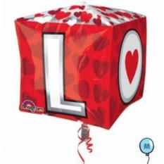 Воздушный шар-куб LOVE