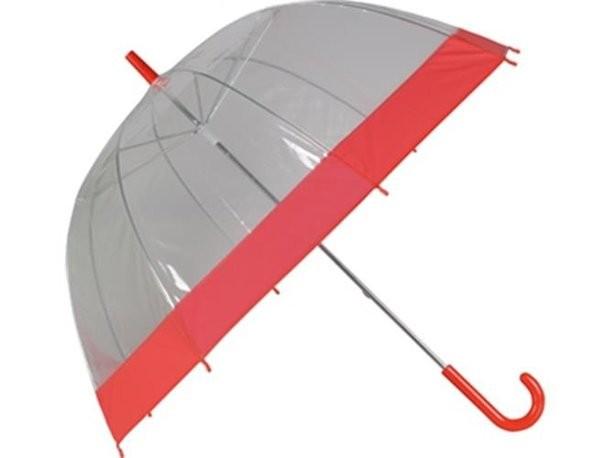 Механический зонт-трость красного цвета