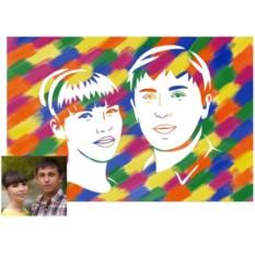 Живописный рисунок для молодоженов своими руками