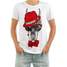 Мужская футболка Собака в шляпе, бабочке и очках