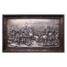 Картина из металла Битва в Париже