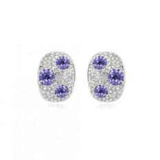 Серьги с фиолетовыми камнями «Россыпь»