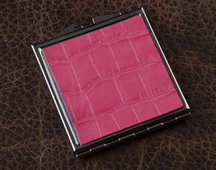Карманное зеркальце, коллекция Elole Design (розовый крокодил)