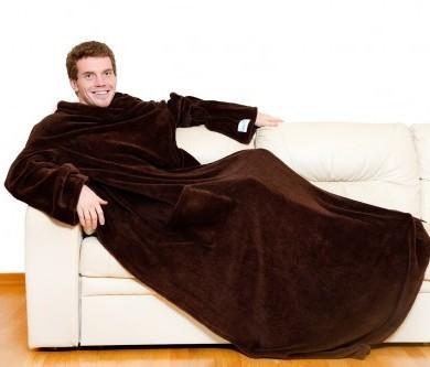 Плед с рукавами Шоколадный Sleepy Luxury