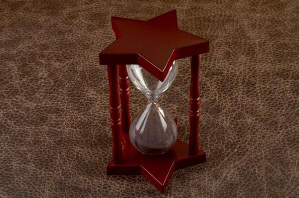 Песочные часы, коллекция Time (бордовый)