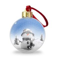 Ёлочный шар Снеговик