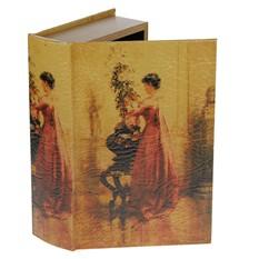 Набор из 2 шкатулок-фолиантов Женщина с хризантемой