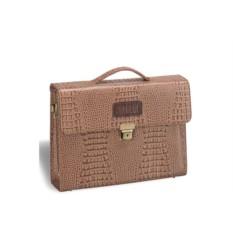 Кожаный женский портфель Brialdi Blanes цвета капучино
