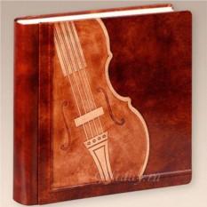 Кожаный фотоальбом Скрипичный ключ