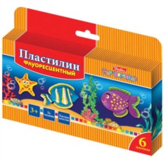 Пластилин Морская семейка 6 цветов HATBER