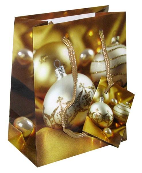 Пакет для подарков Золотые шары