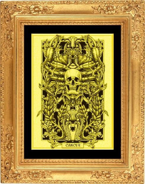 Картина из золота Рак
