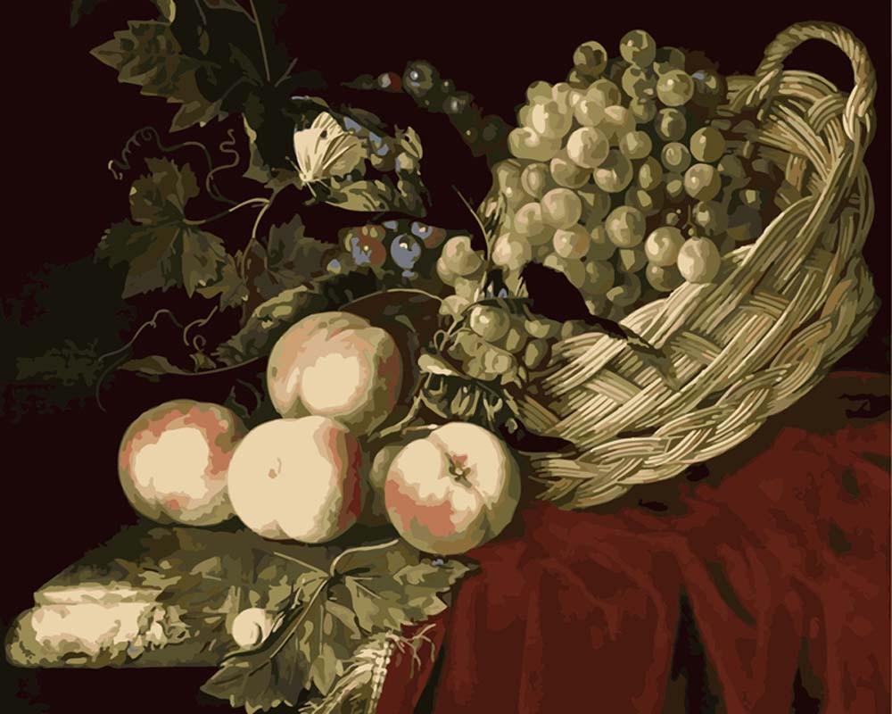 Картины по номерам «Натюрморт с фруктами»