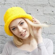 Желтая летняя шляпа из рафии