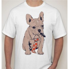 Мужская футболка Собака в галстуке