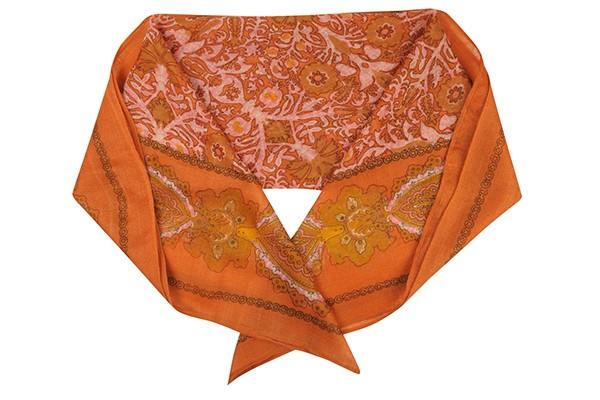Розовый женский платок Fabretti (шерсть)