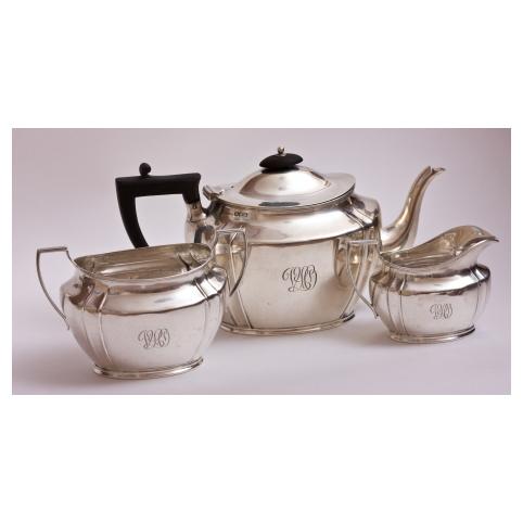 Набор чайный серебряный
