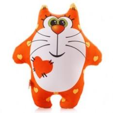 Подушка-игрушка антистресс Кот сердечный